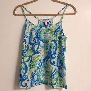 Lilly Pulitzer Silk Tank, Size Small
